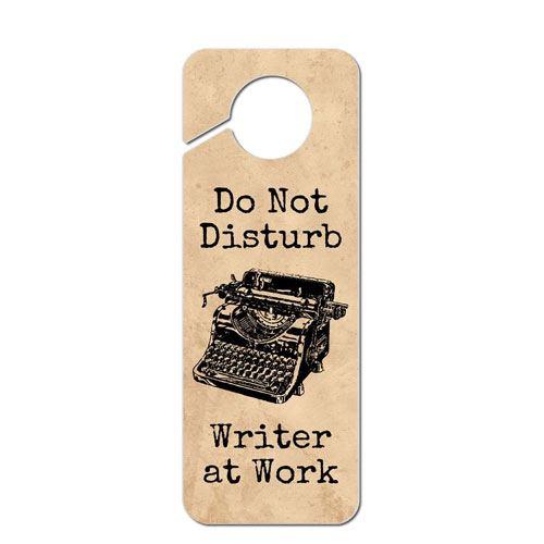 do not disturb writer sign