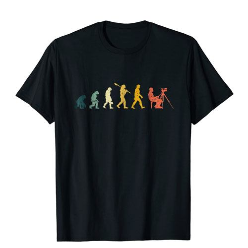 evolution of filmmaker t-shirt