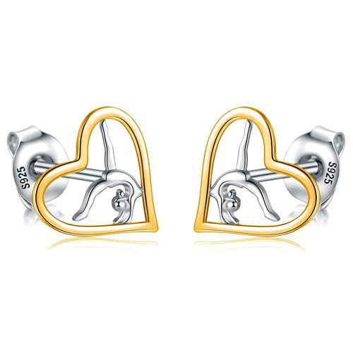 gymnast stud earrings