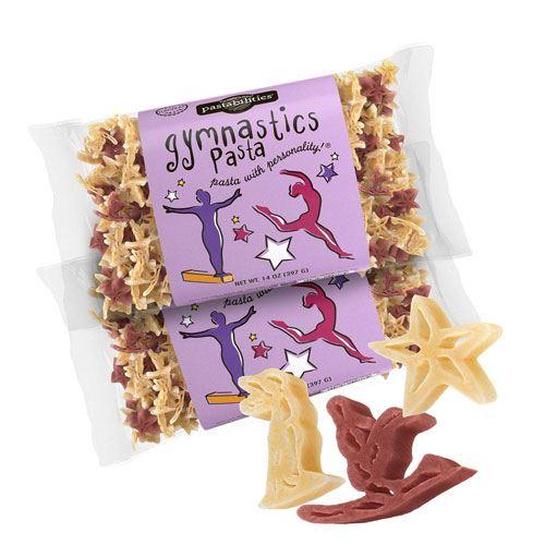 gymnastics pasta shapes