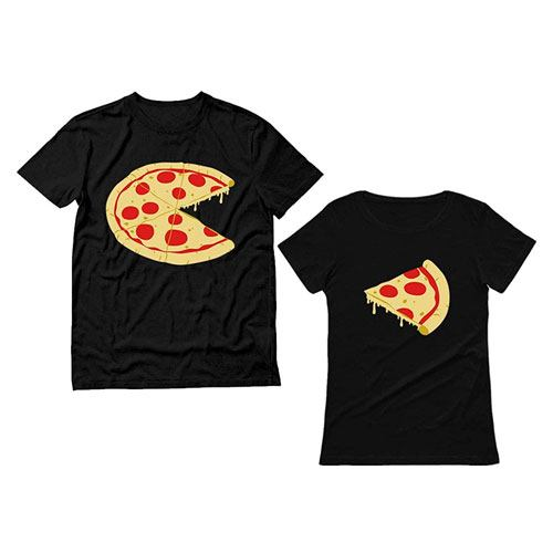 his hers pizza t-shirts
