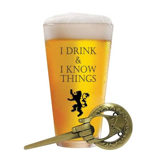 i drink and i know things beer glass
