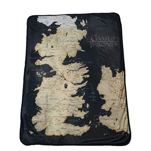 map of westeros throw blanket