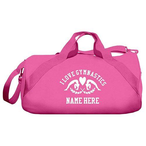 personalized gymnastics duffle bag