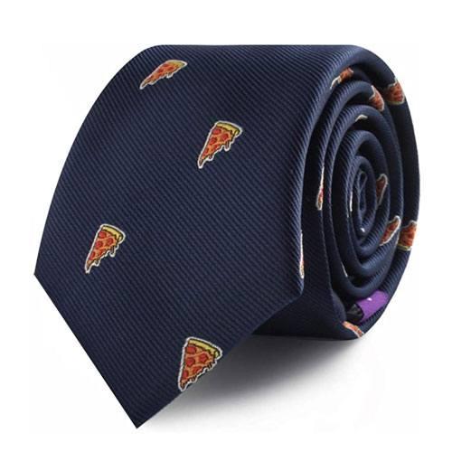 pizza pattern necktie