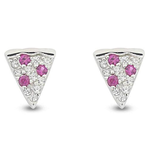 pizza slice stud earrings