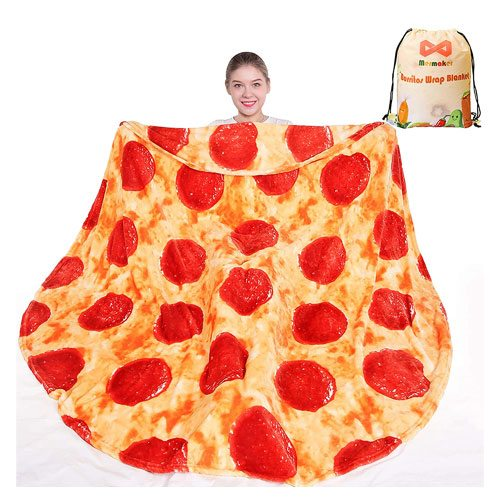 pizza throw blanket gift