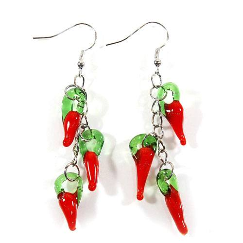 red chili earrings