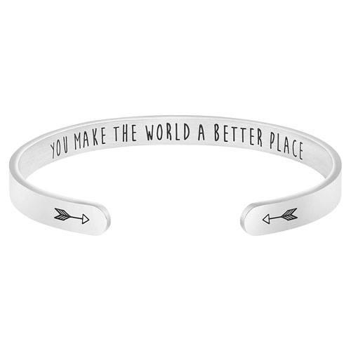 stainless steel appreciation bracelet