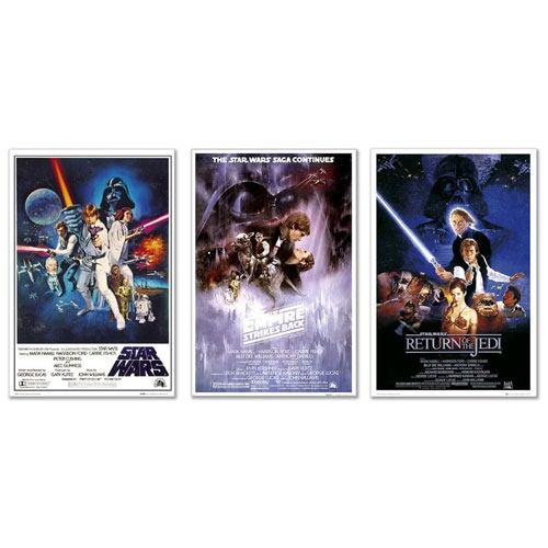 star wars original movie posters set
