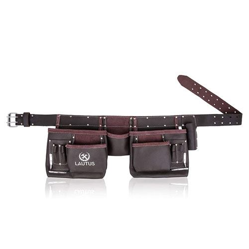 tanned leather tool belt