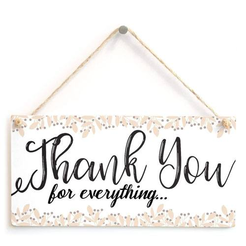 thank you for everything sign