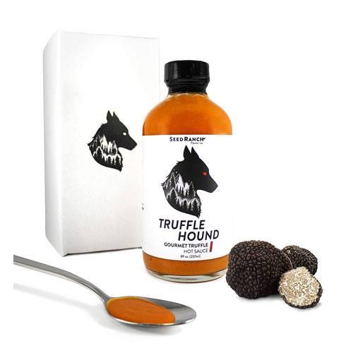truffle hound hot sauce bottle