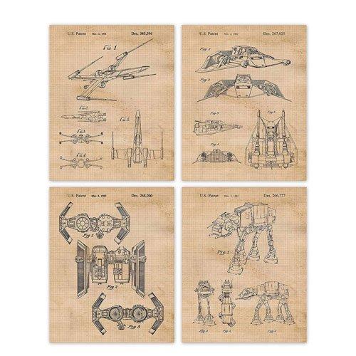 star wars vintage patent prints