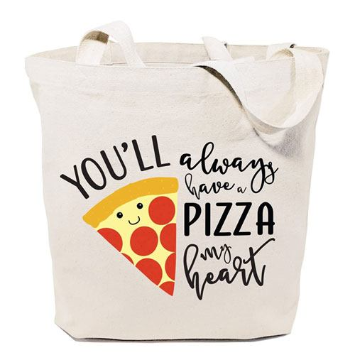 you'll always have a pizza my heart bag
