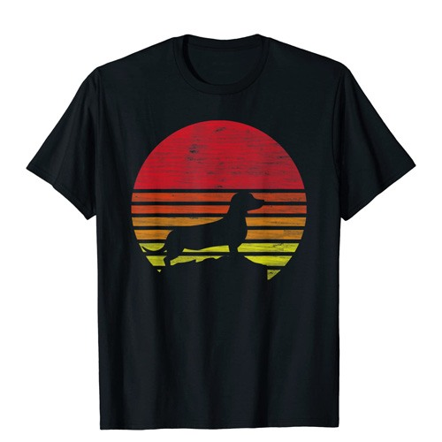 dachshund retro t-shirt