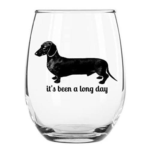 dachshund wine glass
