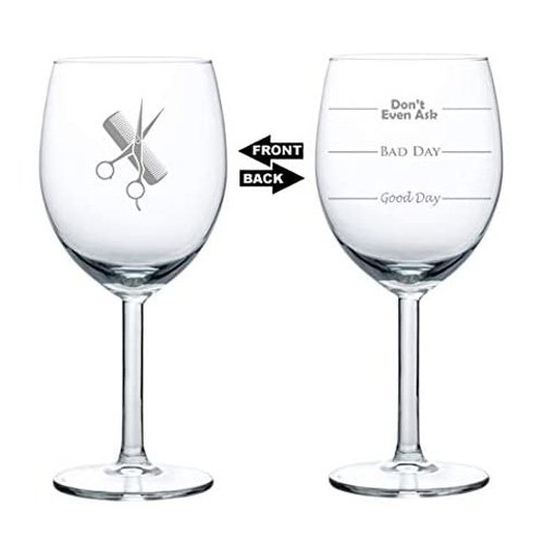 good day bad day wine glass