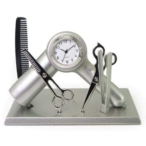 hairdresser clock