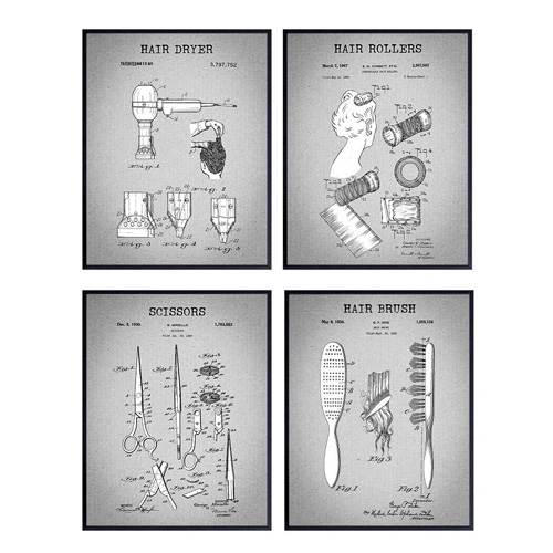 salon patent art prints